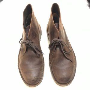 Clarks Chukka Boots Bushacre 2 Distressed Leather